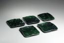 Hamanaka Gesson, oribe-glazed, 2009, Oribe-glazed stoneware, Japanese platters, Japanese ceramics, Japanese pottery, Japanese contemporary ceramics