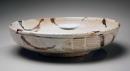 Hamanaka Gesson, shino-glazed, 2007, Shino-glazed stoneware, Japanese bowl, Japanese ceramics, Japanese pottery, Japanese contemporary ceramics