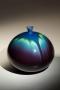Tokuda Yasokichi III, Japanese glazed porcelain, Japanese Kutani-glazed porcelain, Japanese globular vase, ca. 1995
