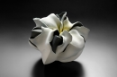 Fujino Sachiko, Interconnection 15-10, flower-inspired sculpture, 2015 matte-glazed stoneware, Japanese sculpture, Japanese pottery, Japanese contemporary ceramics, Japanese female artist, clay