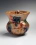Kawai, Kanjiro, Kawai Kanjiro, tenmoku, glazed, stoneware, ceramic, Japanese, modern, antique, ceramics, tri-color, sancai, red, green, brown, 1950, irregular, abstract, covered, jar, round