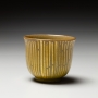 Ono Hakuko, Sake cup with applied gold foil, 1980s, Glazed porcelain with gold leaf, Japanese contemporary ceramics