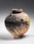 Tsujimura Shiro, Japanese stoneware with natural ash glaze, Japanese shigaraki, Japanese tsubo, ca. 1980