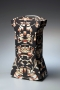 Wada Morihiro, Japanese ceramic vessel, Japanese sculpture, Japanese ceramic sculpture, Japanese glazed stoneware, 1993. Keisenmonki series.