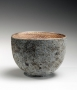 Iguchi Daisuke, ash-glazed teabowl with silver-glazed interior, 2013, stoneware with ash and silver glazes, Japanese ceramics, Japanese pottery, Japanese teabowl, Japanese teaware, ash-glazed