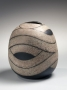Ovoid vessel, 1988, Japanese contemporary, modern, ceramics, sculpture