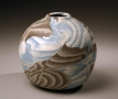 Small globular vessel, 1986, Japanese contemporary, modern, ceramics, sculpture, Living National Treasure