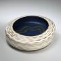 Morino Taimei, Low, ovoid bowl, 1982, Japanese modern, contemporary, ceramics, sculpture