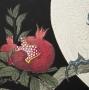 Ohara Koson, (1877-1945), Cockatoo on pomegranate branch, ca. 1925, Oban tate-e, Japanese hanga, Japanese shin hanga, Japanese woodblock print