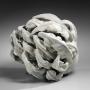 Katsumata, Chieko, Katsumata Chieko, chamotte, white, tentacle, sea, flower, sculpture, contemporary, ceramics, pottery, Japan, 2013, glazed, stoneware, NYC, mirviss