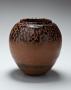 Shimizu Uichi, Japanese glazed stoneware, Japanese iron-glazed vessel, ca 1965
