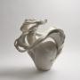 Fujikasa Satoko, Seraphim, 2015, Stoneware with white slip-glaze, Japanese ceramics, Japanese contemporary ceramics, Japanese sculpture, Japanese pottery