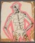 Disco Skeliton Acrylic on wood
