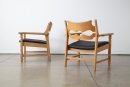 Henning Kjaernulf Pair of Razor Blade Chairs