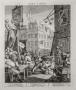 William Hogarth (1697-1764, British), Beer Street, from the pair Beer Street & Gin Lane, 1751, 386 x 323 mm. 15 1/8 x 12 3/4 in.