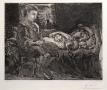 Pablo Picasso, Garcon et Dormeuse à la Chandelle