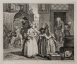 William Hogarth (1697-1764)  Series: A Harlot's Progress, 1732  Complete set of six etching and engravings
