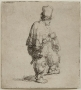 Rembrandt Van Rijn, A Standing Hurdy-Gurdy Player (Polander Standing with Arms Folded), ca. 1631