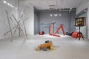 Installation view: Kenneth Snelson, Mark di Suvero, Radcliffe Bailey, David Muller