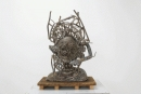"Zachary Armstrong  ""Bronze Crown for Keith"", 2018  Bronze  32 x 18 inches"