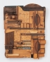 Noah Purifoy Wooden Tile, 1988