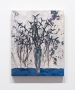 "Felipe Baeza  ""Un Fruto Salado"", 2019  Ink, graphite, acrylic, flashe, cut paper, embroidery, and varnish on panel  14 x 11 x 1 inches"