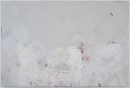 """Brenna Youngblood """"Waiting"""", 2014 Mixed media on wood panel 48 x 72 x 1-3/4 inches"""