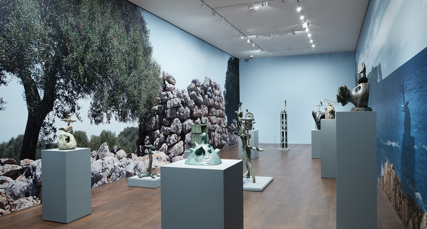 Installation View  of Miro the Sculptor:Elements of Nature