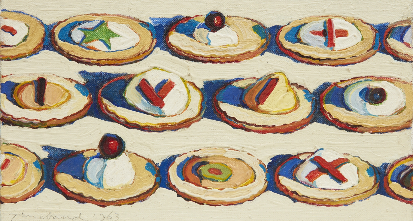 """Image of Wayne Thiebaud's """"Hors d'Oeuvres"""""""