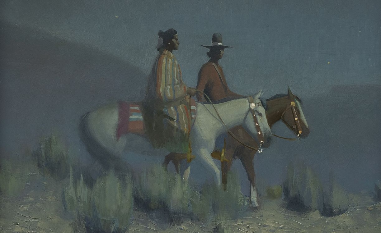 "15. Gerard Curtis Delano (1894–1985) ""Navajo Night,"" oil on board, 16 x 20 inches"