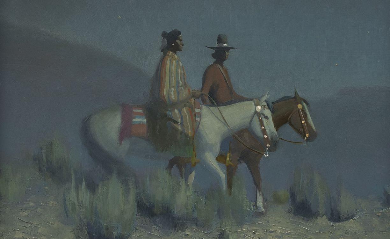 """15. Gerard Curtis Delano (1894–1985) """"Navajo Night,"""" oil on board, 16 x 20 inches"""