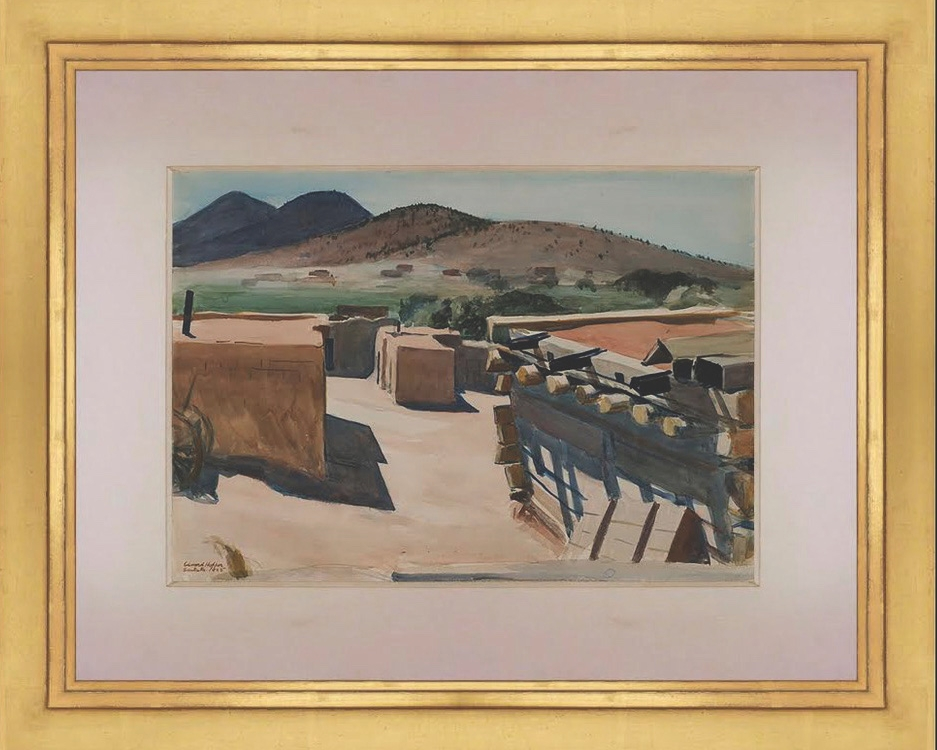 "4. Edward Hopper (1882–1967) ""Adobe Houses, Santa Fe,"" d.1925, watercolor on paper, 14 x 20 inches"