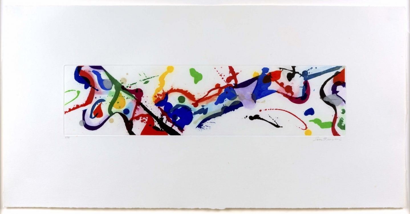 Sam Francis, Untitled 1986, Signed Aquatint Print