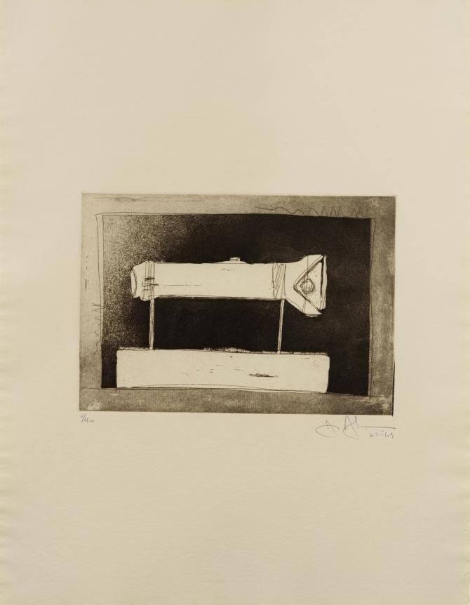Jasper Johns, Flashlight, 1st Etching, 2nd State