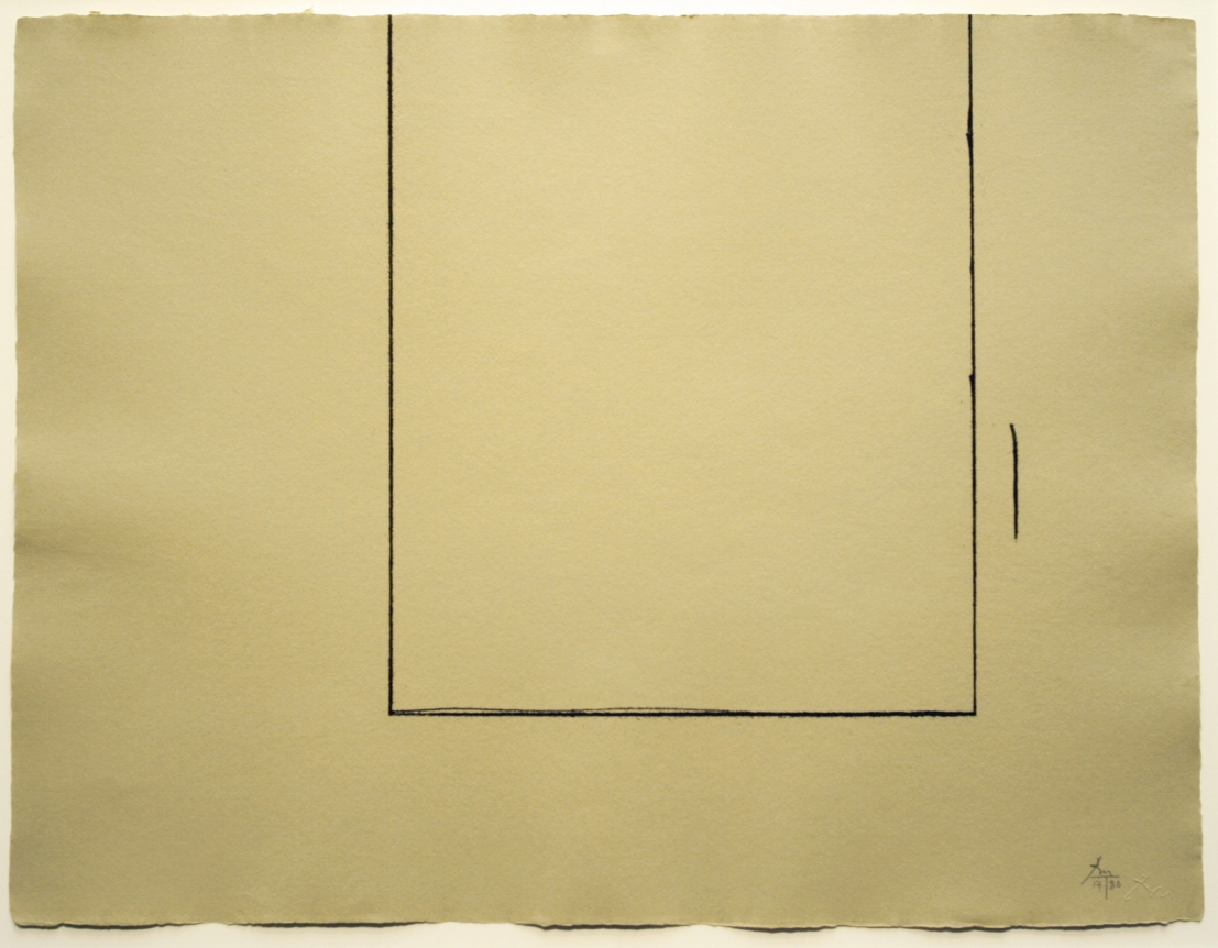 Robert Motherwell, Beige Open, Etching