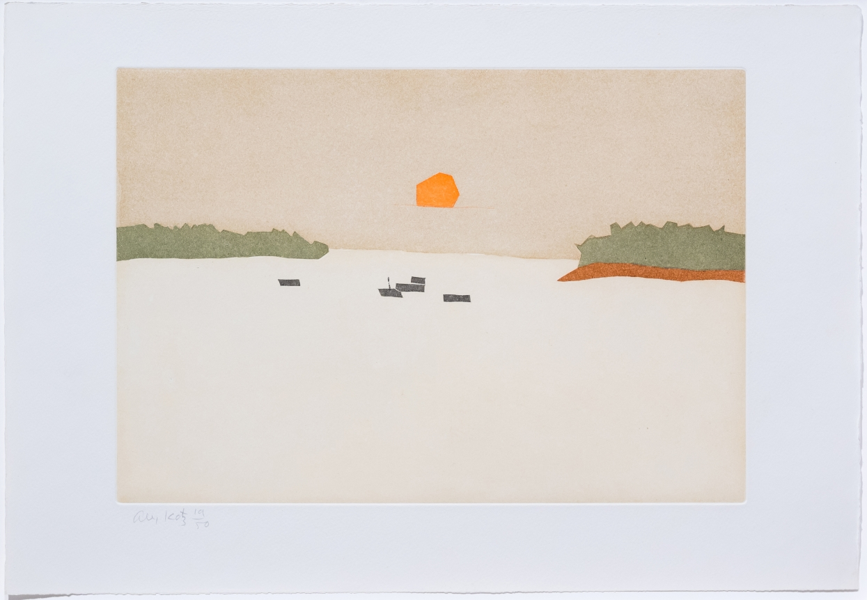 Alex Katz, Sunset Cove, from Small Cuts, 2008