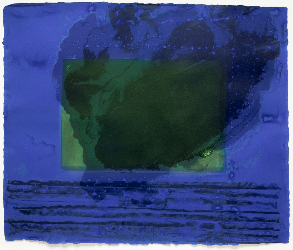 Howard hodgkin, A Storm, Lithograph