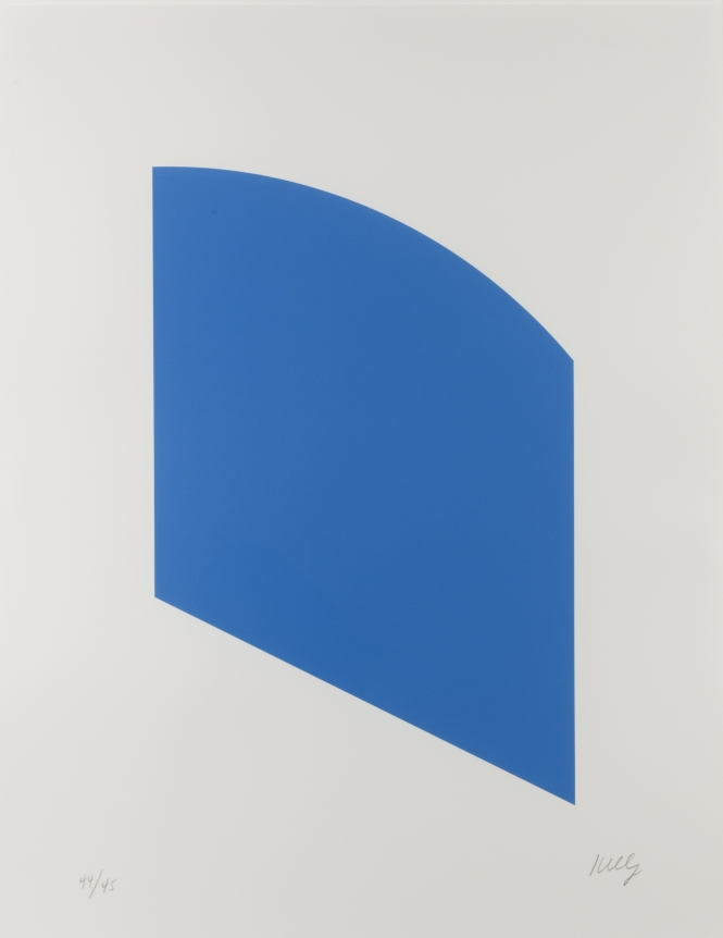 Ellsworth Kelly, Blue, Lithograph