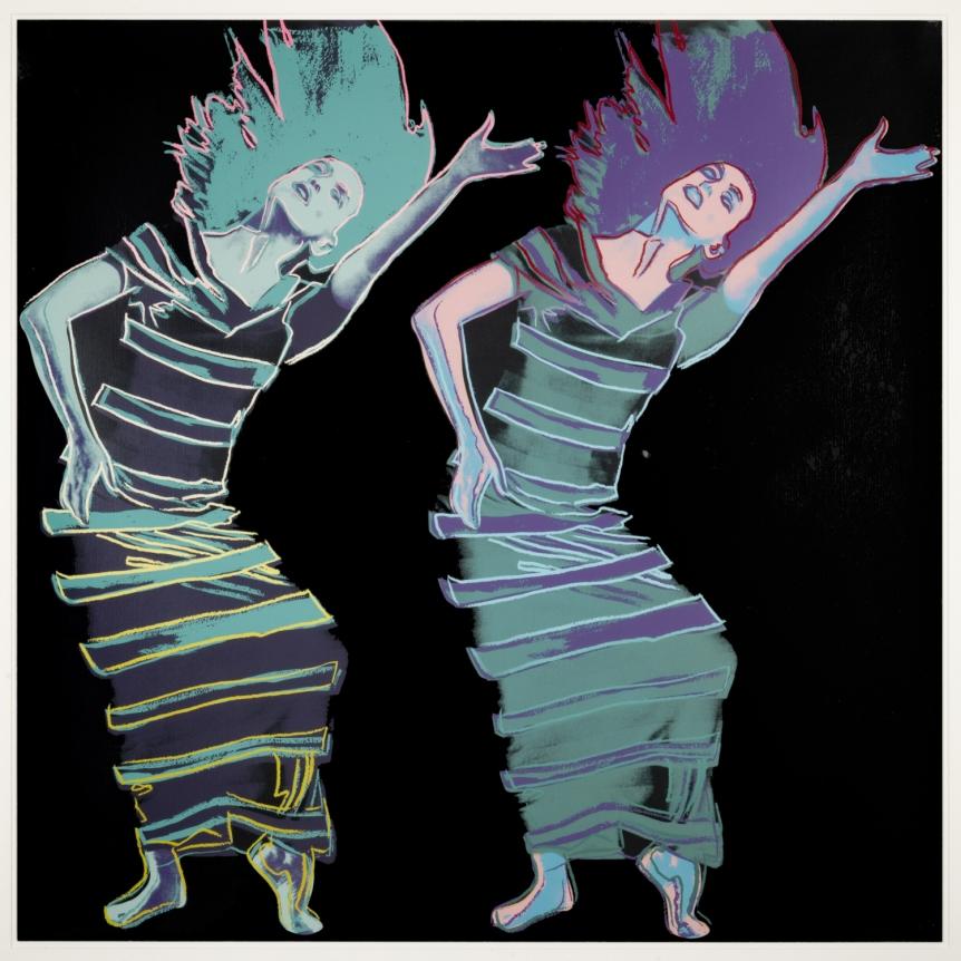 Andy Warhol, Satyric Festival Song, from Martha Graham, Screenprint