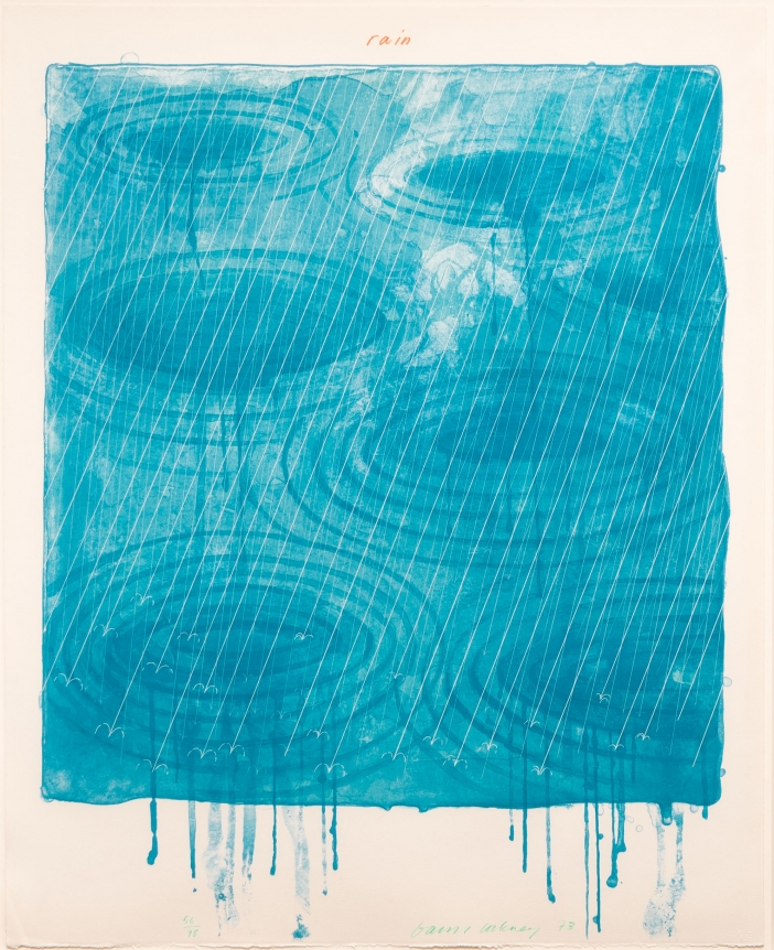 David Hockney, Rain, from the Weather series, Lithograph and screenprint