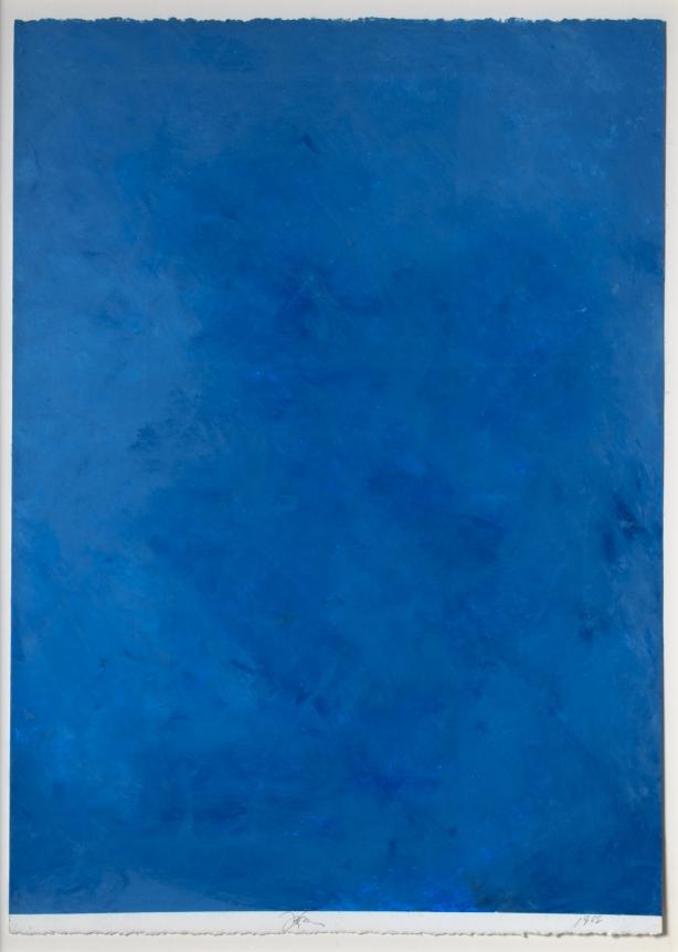 Joe Goode, Ocean Blue drawing 36, Oil pastel on paper