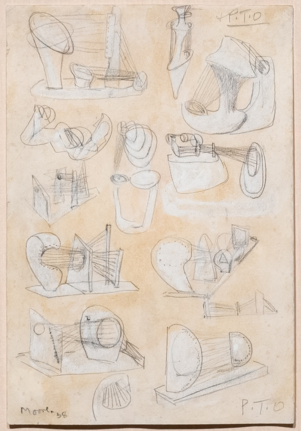 Henry Moore, Ideas for Stringed Figures, 1938