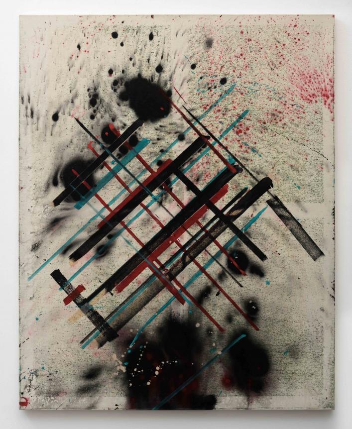 Ed Moses, Bad Cubis-1, Acrylic on canvas