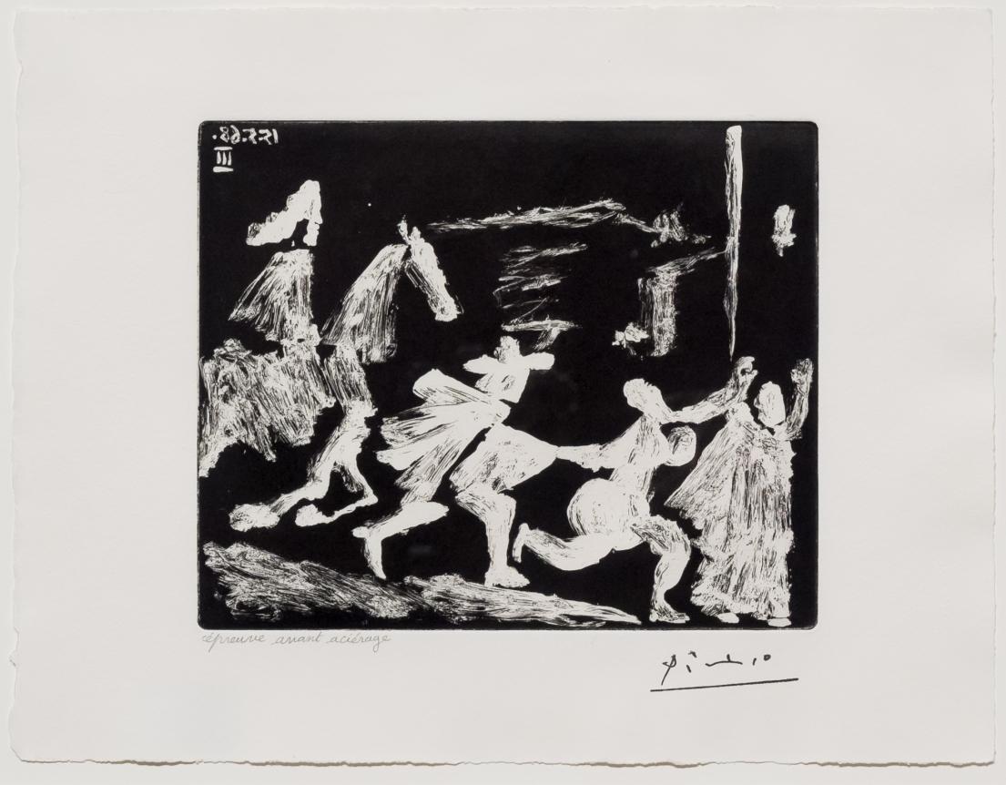 Pablo Picasso, Capee et Epee, Aquatint