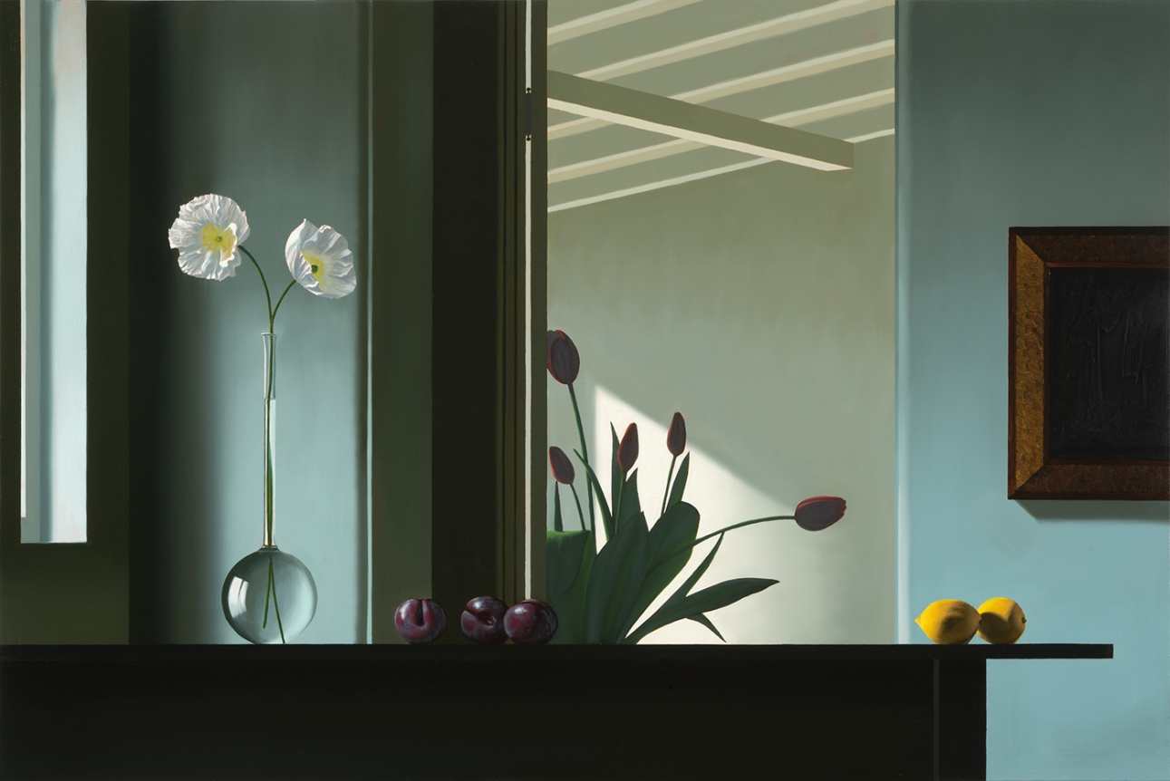 Bruce Cohen, Interior with Silhouetted Tulips, 2017I