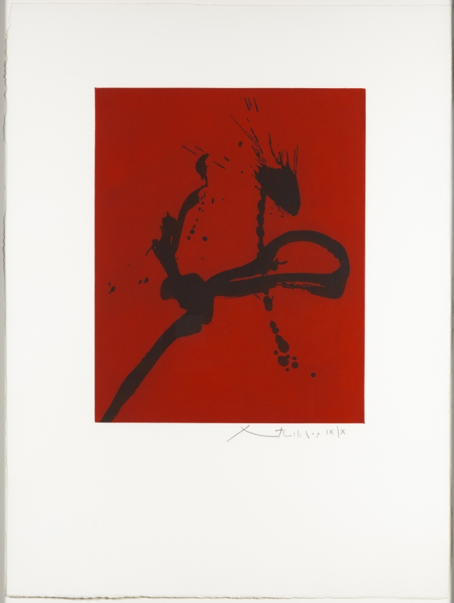 Robert Motherwell, Gesture IV, Aquatint