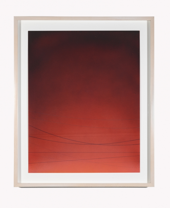 Alex Weinstein, Power Line Drawing #11, Acrylic, graphite and colored pencil