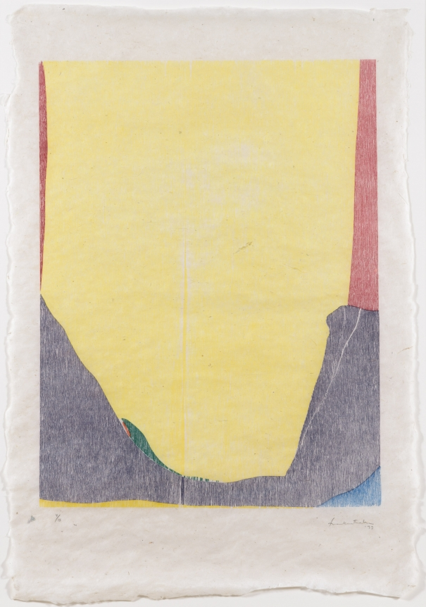 Helen Frankenthaler, East and Beyond, 1973, Woodcut, Abstract, Expressionism, Signed