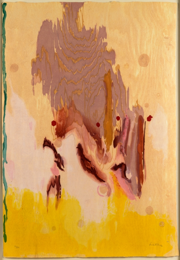 Helen Frankenthaler, Geisha, 2003, Woodcut, Abstract, Expressionism, Signed