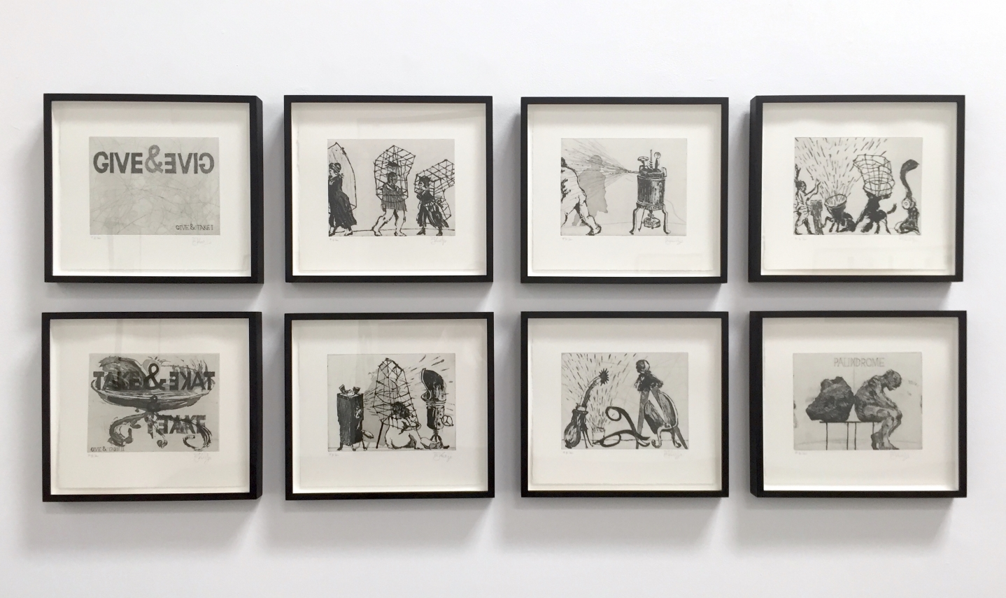 William Kentridge, Give & Take Series, Etching